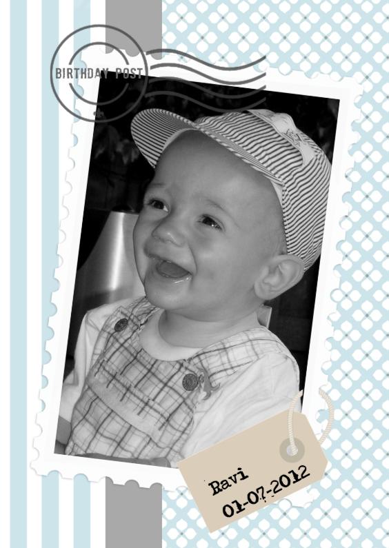Kinderfeestjes - Uitnodiging met Foto Jongen
