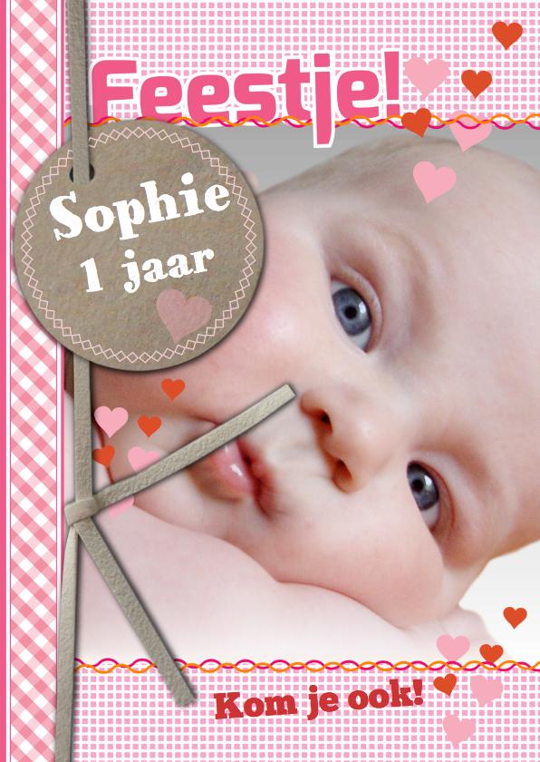 Kinderfeestjes - Uitnodiging Met Foto Sophie