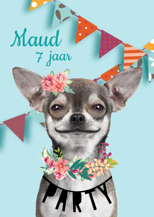 Kinderfeestjes - Uitnodiging met grappig hondje