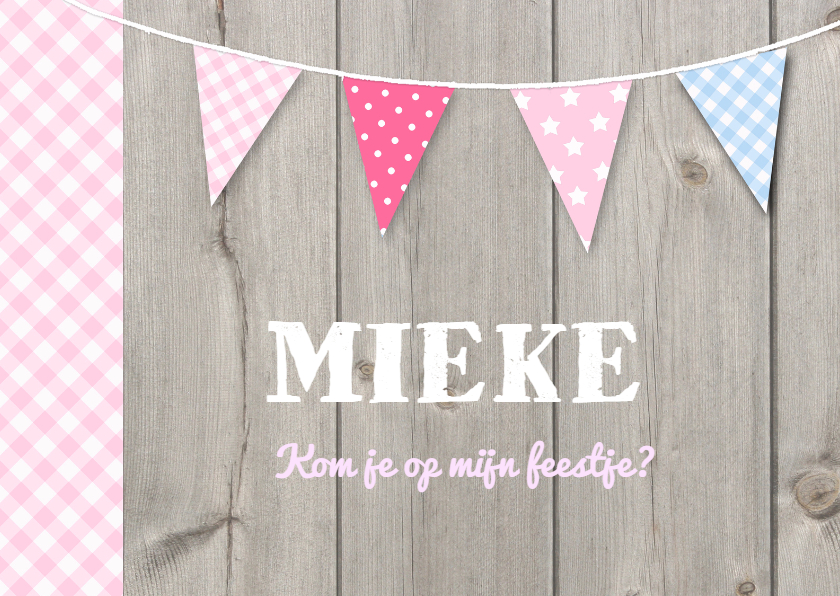 Kinderfeestjes - Uitnodiging Mieke