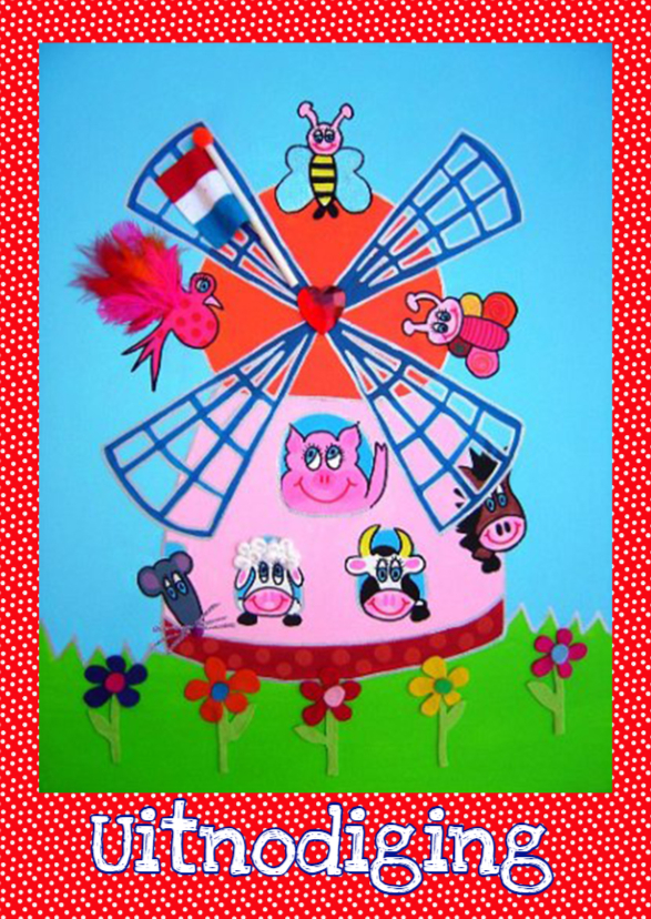 Kinderfeestjes - Uitnodiging Molen PA