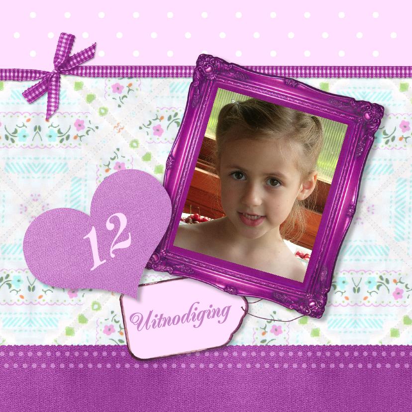 Kinderfeestjes - Uitnodiging paarse lijst - BK