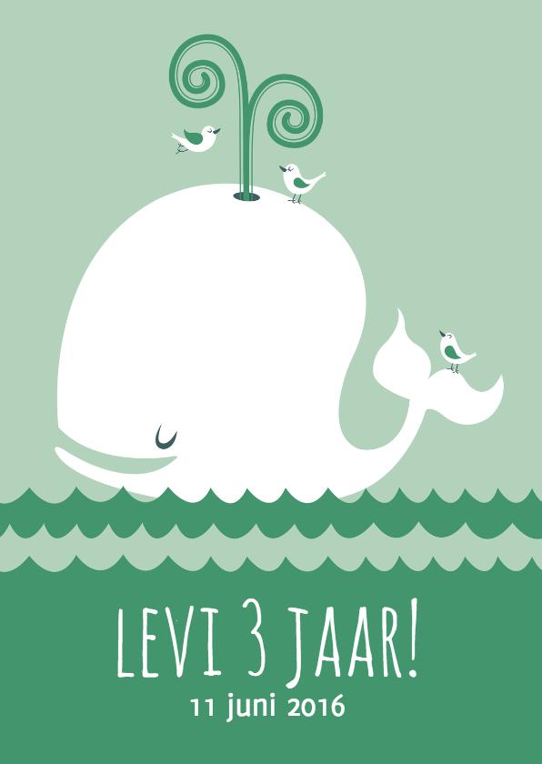 Kinderfeestjes - Uitnodiging partijtje walvis