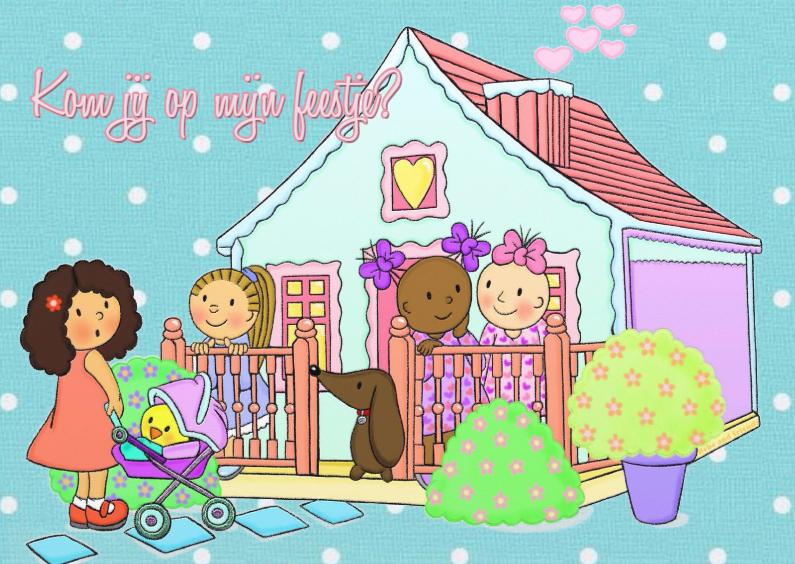 Kinderfeestjes - Uitnodiging Pastelhuisje - TbJ