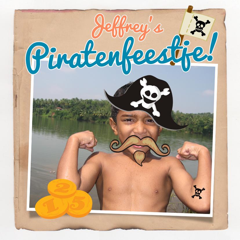 Kinderfeestjes - Uitnodiging piraten feestje Foto