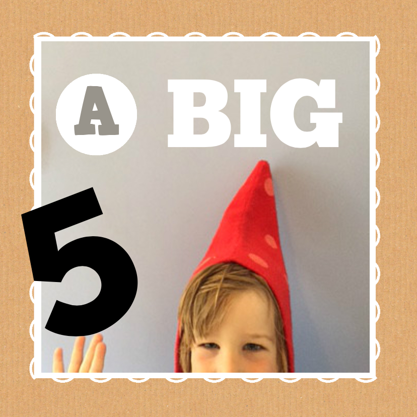 Kinderfeestjes - Uitnodiging rood leeftijd