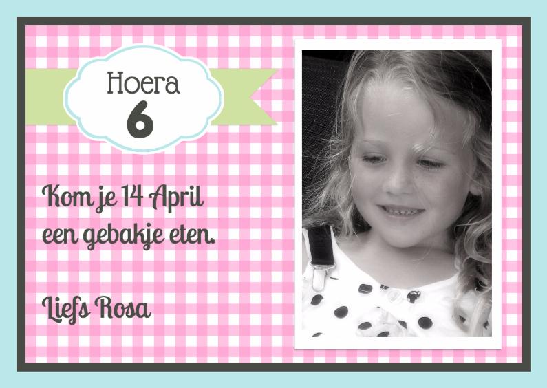 Kinderfeestjes - Uitnodiging Rosa