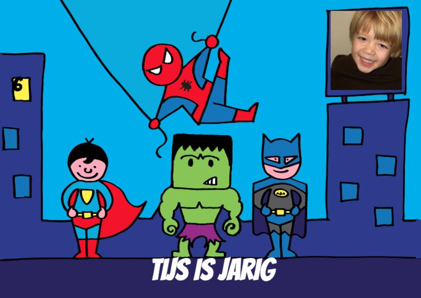 uitnodiging superhelden feestje  1