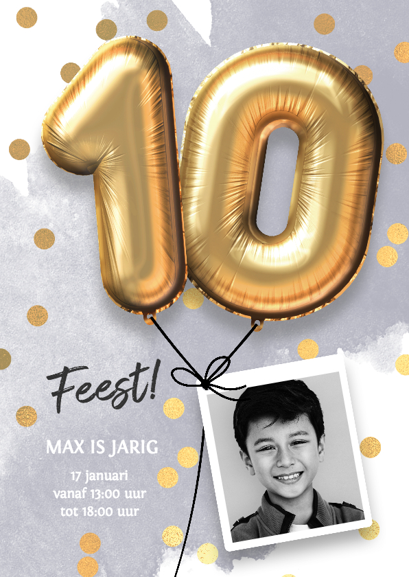 Uitnodiging Verjaardag Jongen 10 Jaar Kaartje2go