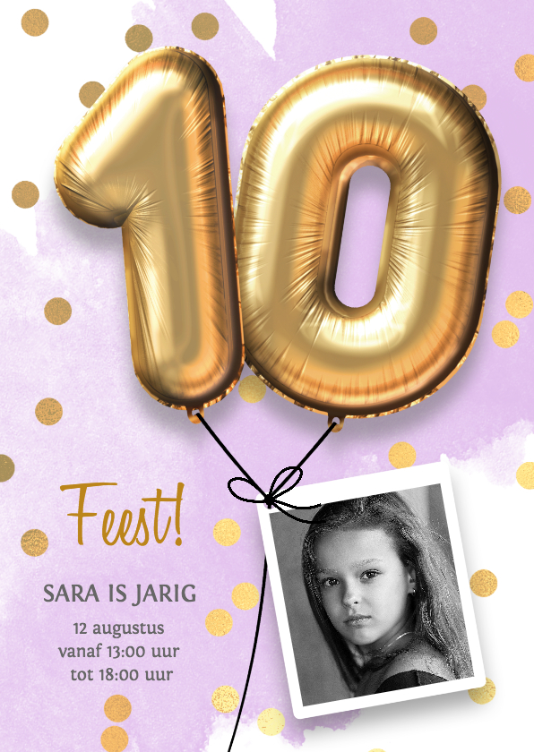 Uitnodiging Verjaardag Meisje 10 Jaar Kaartje2go