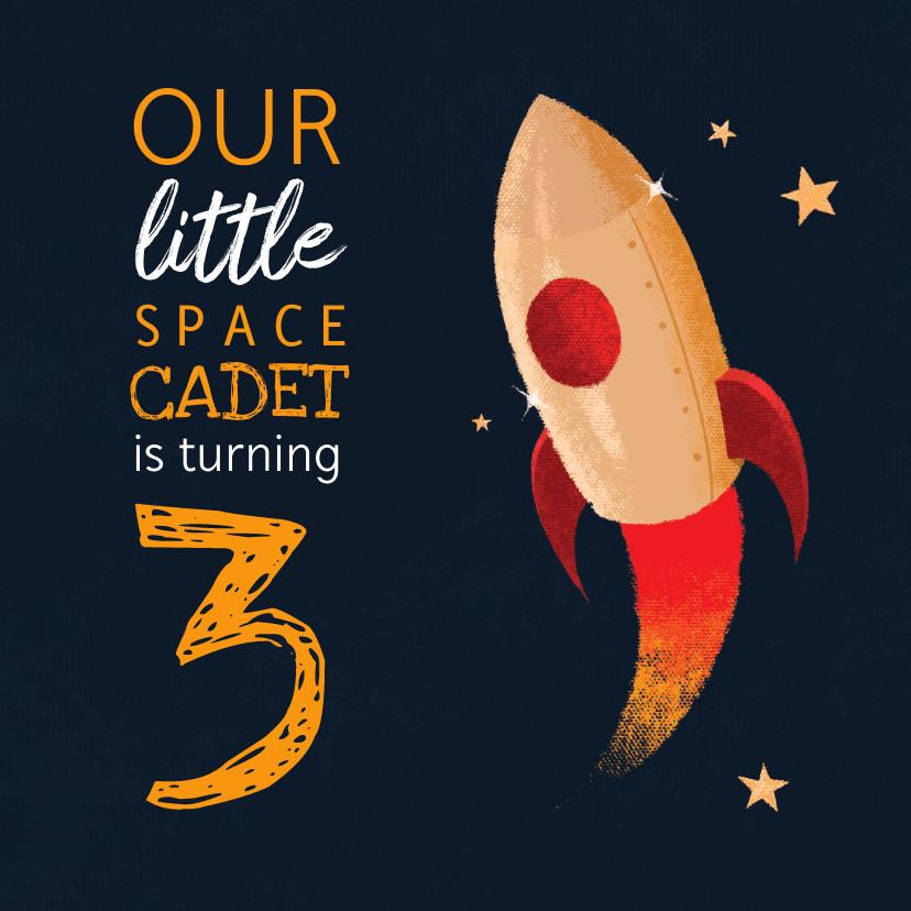 Kinderfeestjes - Uitnodiging verjaardag spacecadet kinderfeestje
