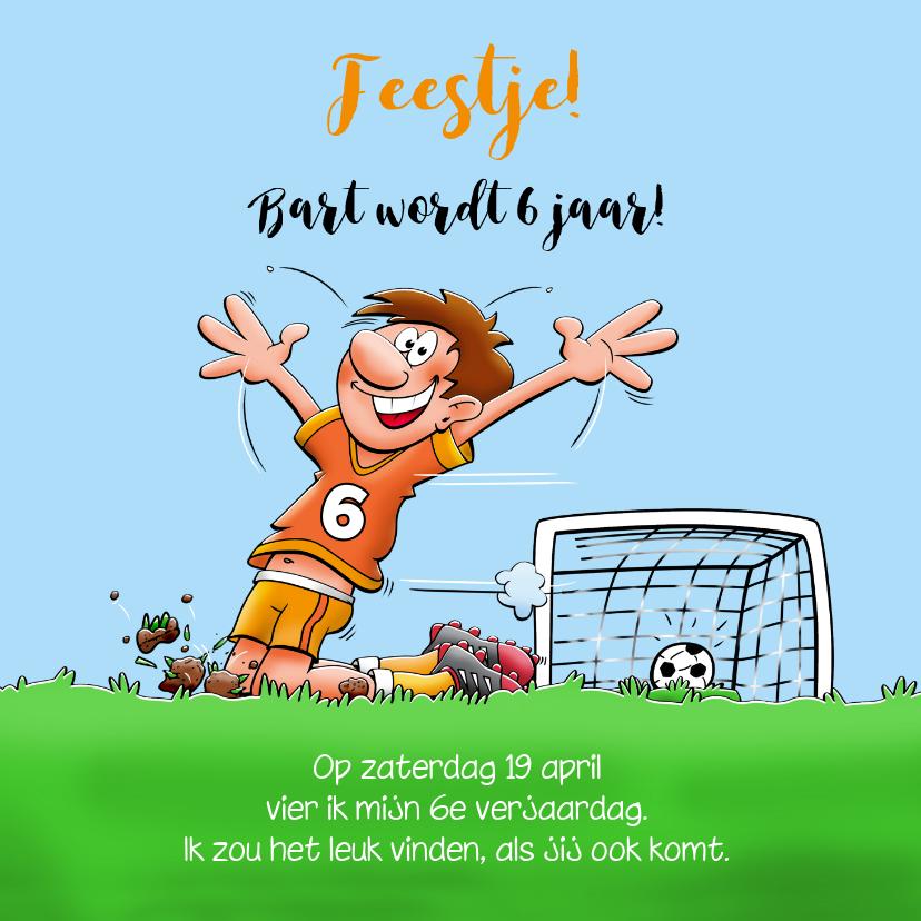 Kinderfeestjes - Uitnodiging voor een kinderfeestje. We gaan voetballen.