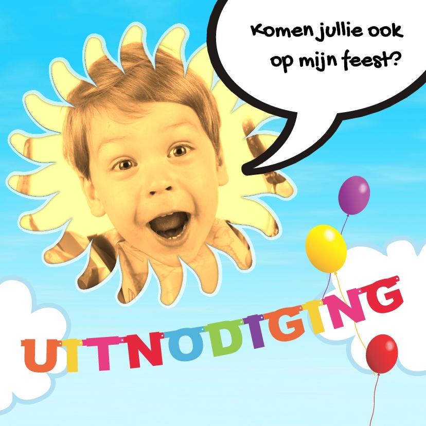 Kinderfeestjes - Uitnodiging zonnig feestje - BK