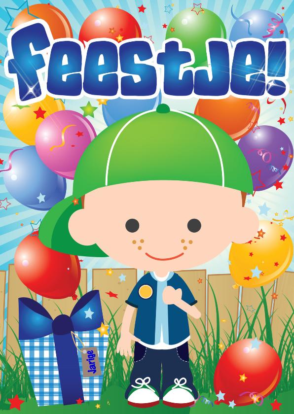 Kinderfeestjes - Uitnodigingskaart Jongetje