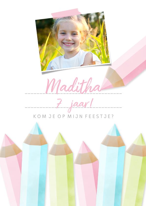 Kinderfeestjes - Uitnodigingskaart kinderfeestje tekenen & creatief