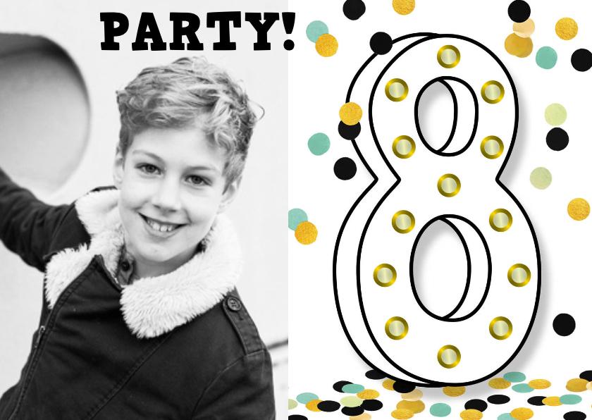 Kinderfeestjes - verjaardag 8 jaar hip lichtjes