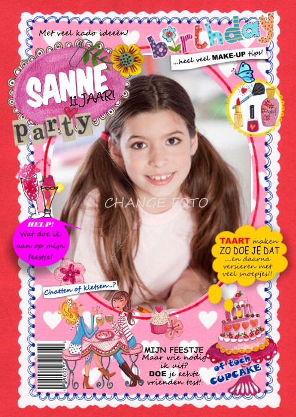 Kinderfeestjes - Verjaardag FEEST Tijdschrift Meisje Foto