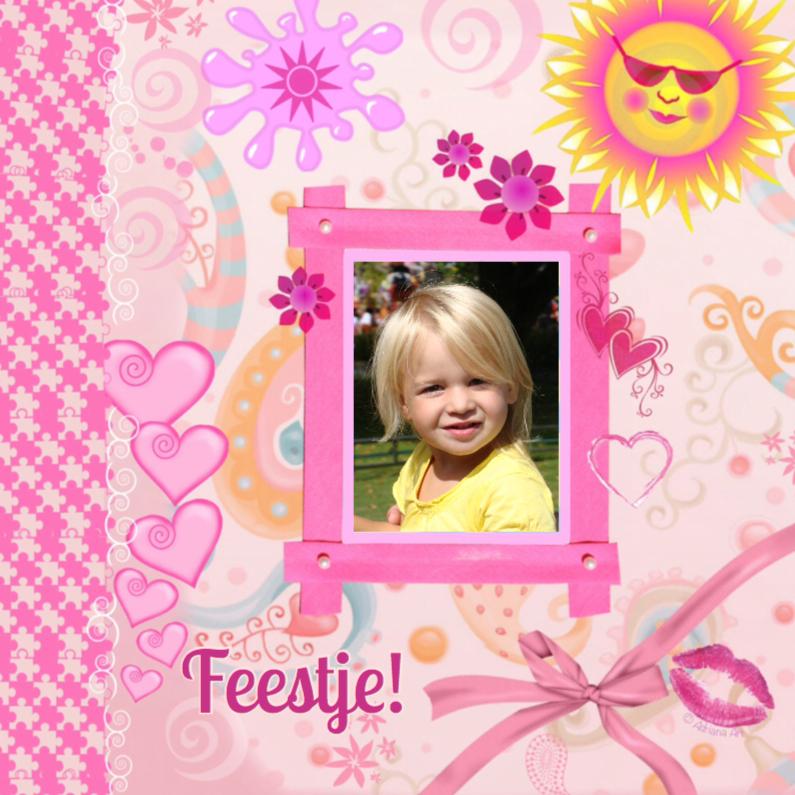 Kinderfeestjes - Verjaardag feestje meisje rose
