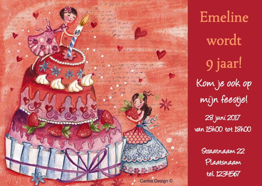 Kinderfeestjes - Verjaardag Taart Feestje Cartita Design