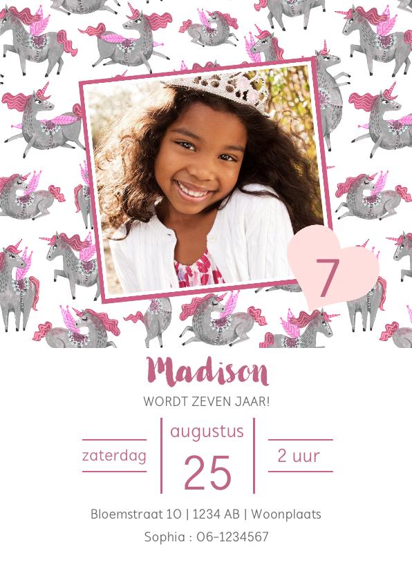 Kinderfeestjes - Verjaardagsfeestje unicorn dessin