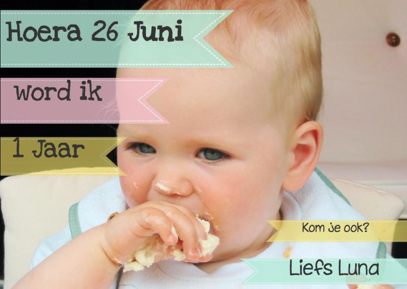 Kinderfeestjes - Verjaardagskaart met eigen foto