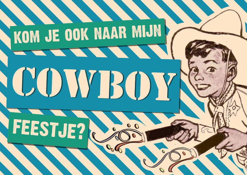 Kinderfeestjes - Vintage Cowboy Feestje