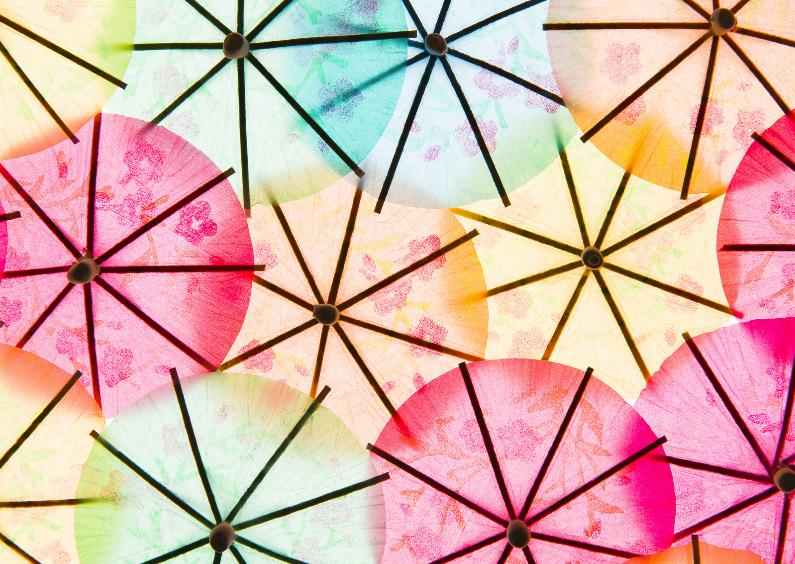Kinderfeestjes - Vrolijke gekleurde parapluutjes