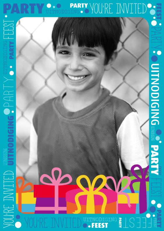 Kinderfeestjes - Vrolijke uitnodiging - DH