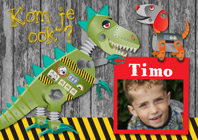 Kinderfeestjes - YVON dinosaurus robot kom je ook