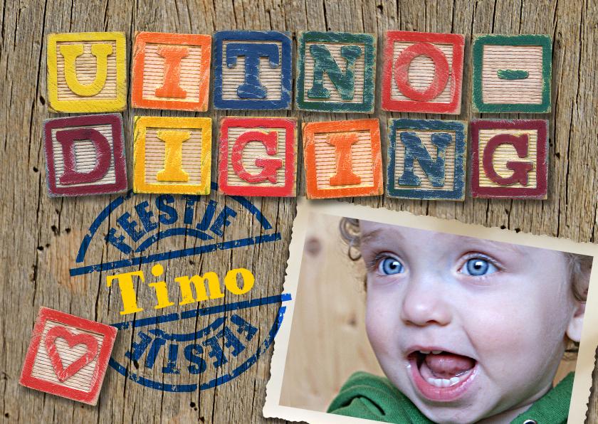 Kinderfeestjes - YVON uitnodiging kinderfeestje jongen