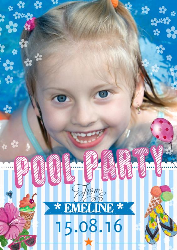 Kinderfeestjes - Zwembadfeestje Meisje
