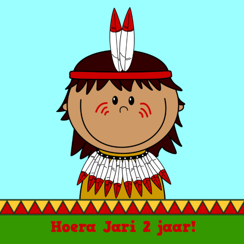 Kinderkaarten - indiaan 2 jaar