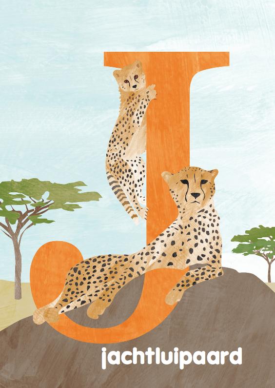 Kinderkaarten - J van jachtluipaard