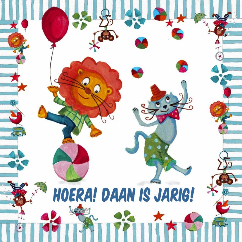 Kinderkaarten - Jarig Circus Leeuw