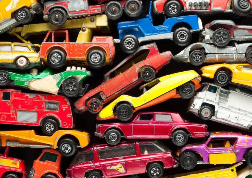 Kinderkaarten - Jongenskaart met autootjes