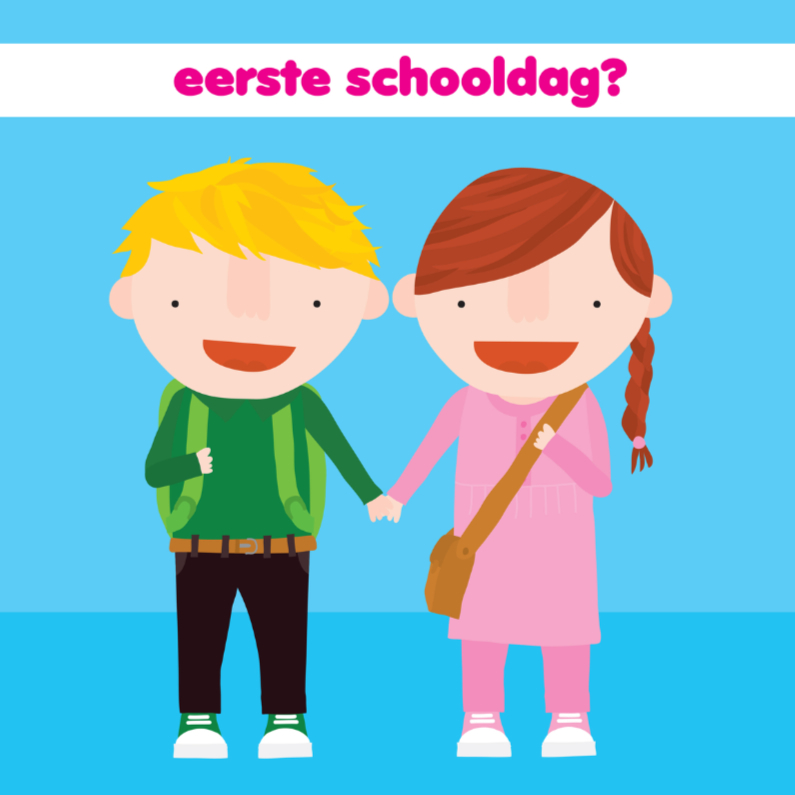 Kinderkaarten - Kinderkaart 1e Schooldag