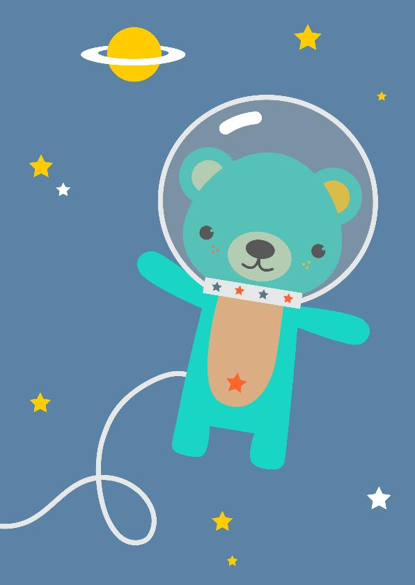 Kinderkaarten - Kinderkaart - Beer in de ruimte