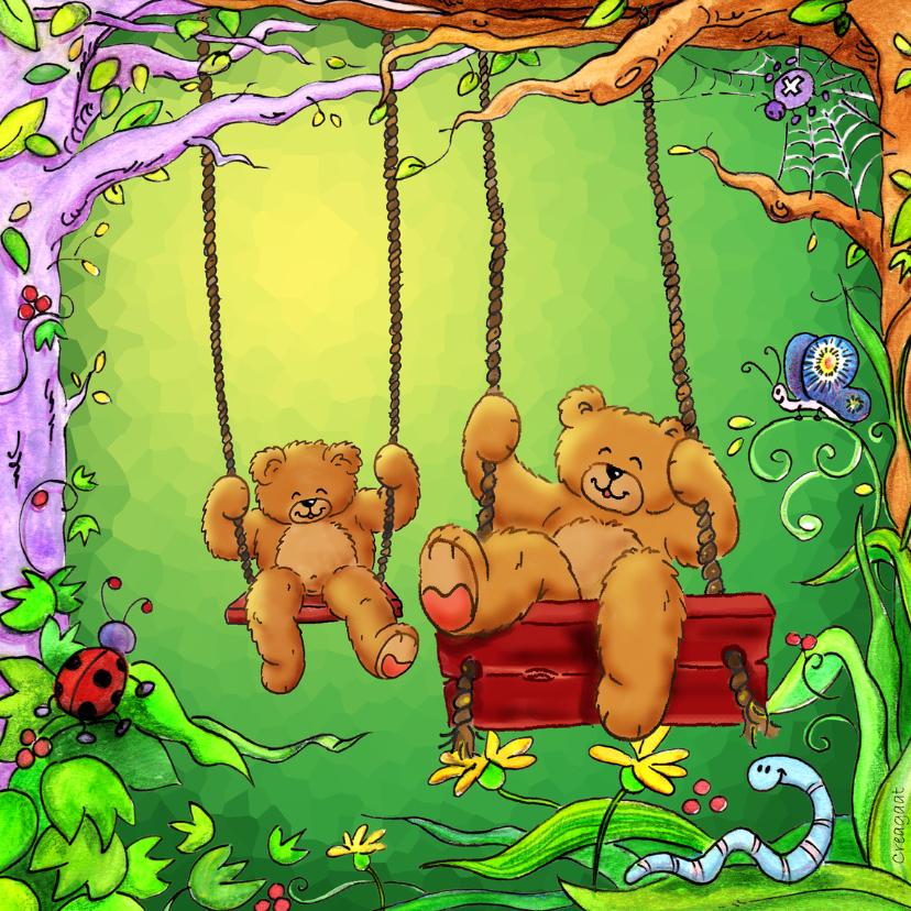 Kinderkaarten - Kinderkaart beren schommel