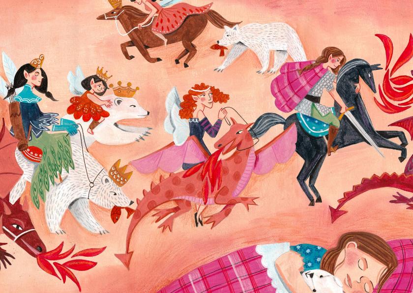 Kinderkaarten - Kinderkaart Draken, beren en prinsessen en helden!