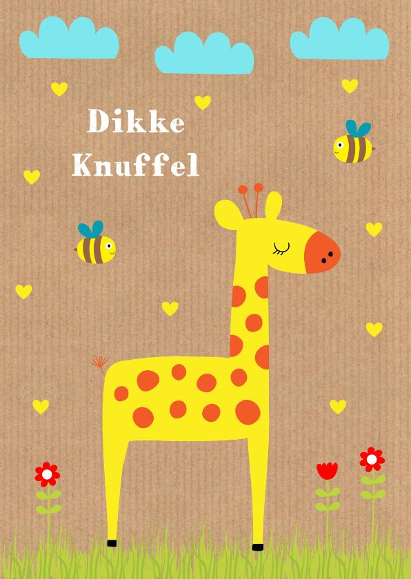 Kinderkaarten - Kinderkaart giraf kraft