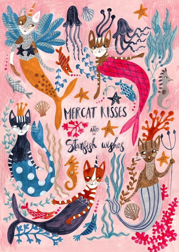 Kinderkaarten - Kinderkaart meerkatten