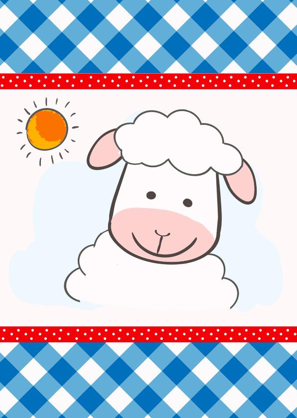 Kinderkaarten - Kinderkaart met schaapje