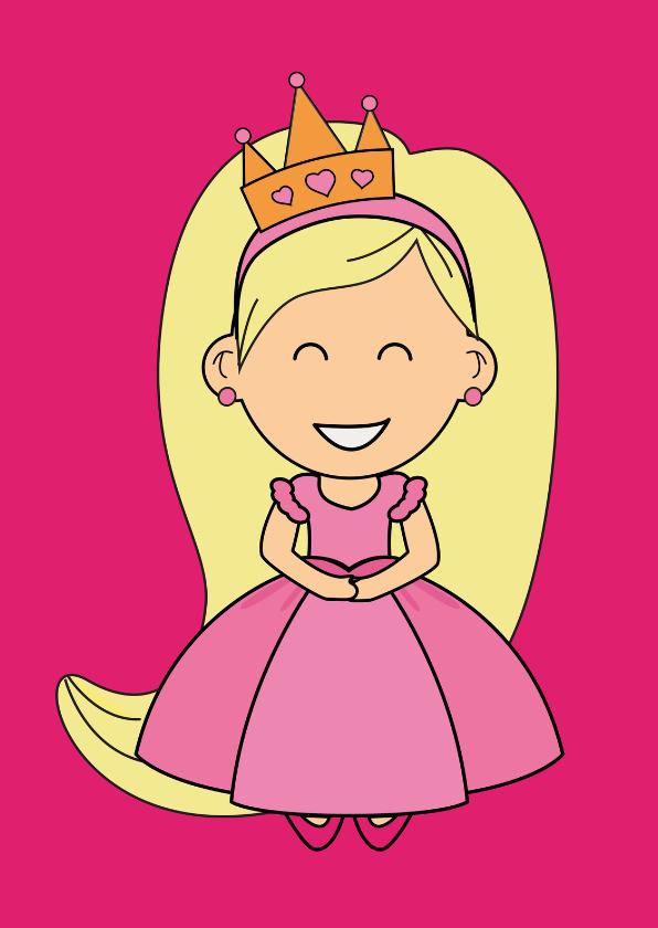 Kinderkaarten - kinderkaart - prinses - MG