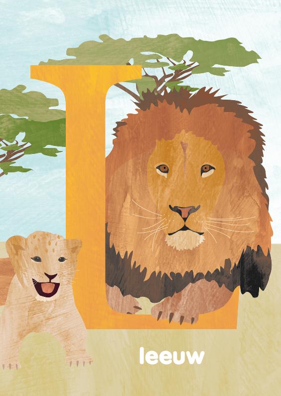 Kinderkaarten - L van leeuw