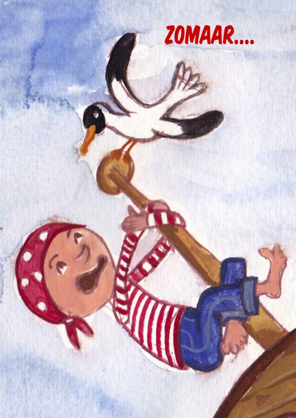 Kinderkaarten - Piraat Kinderkaart