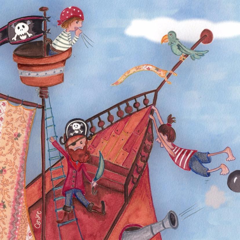 Kinderkaarten - Piratenfeestje Kinderkaart