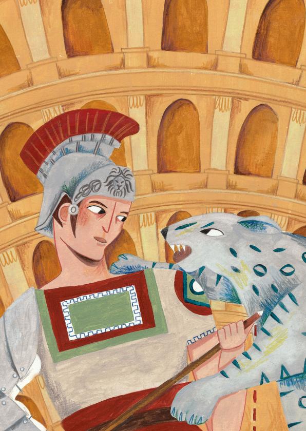 Kinderkaarten - Romeinse gladiator kaart