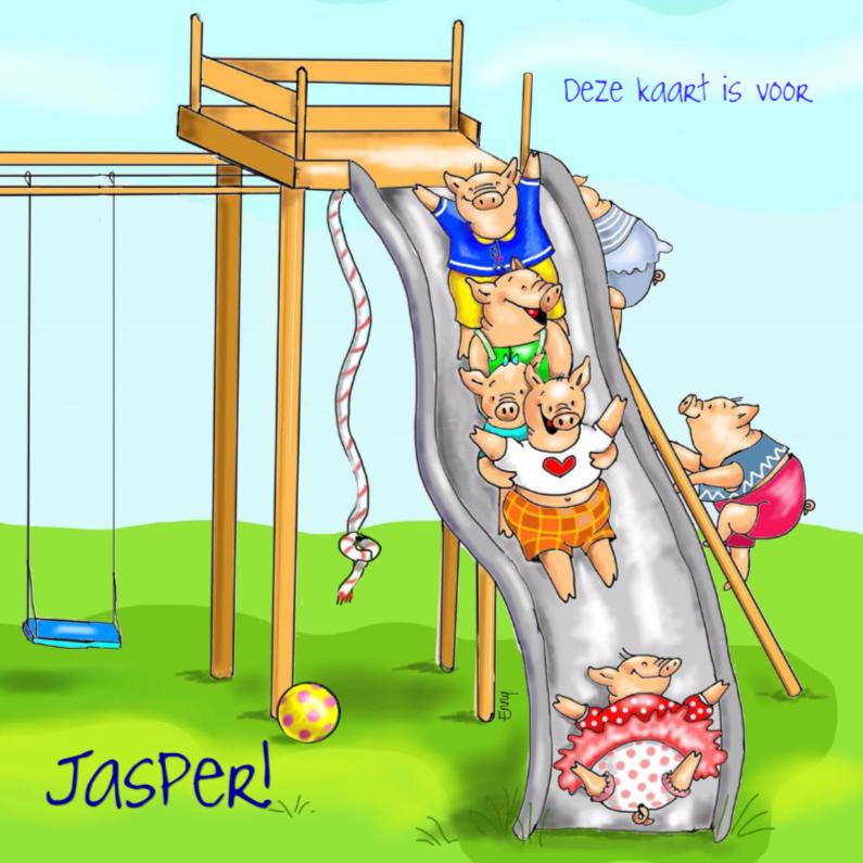 Kinderkaarten - Samen van de glijbaan