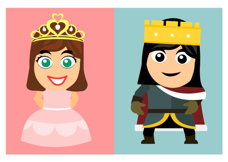 Kinderkaarten - Sprookjes kaart prinses en prins