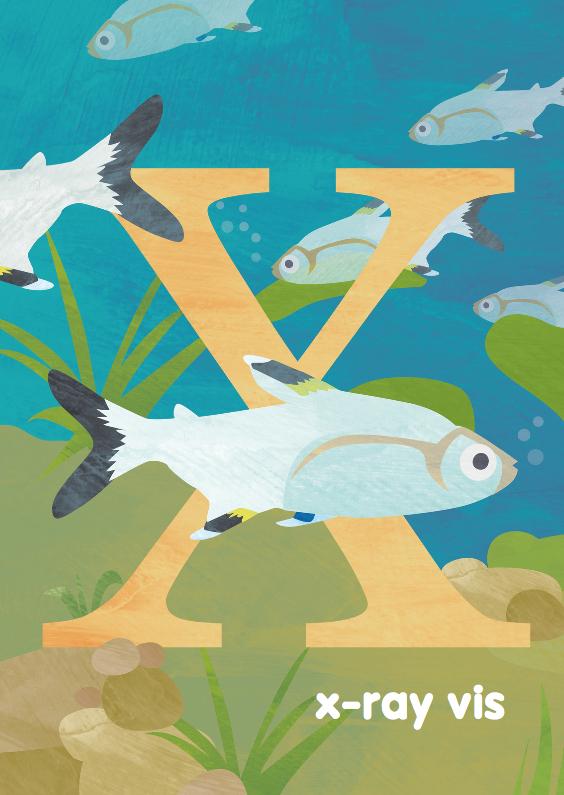 Kinderkaarten - X van X-ray vis